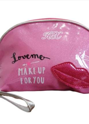 Necessarie boca porta maquiagem preto rosa pink bolsa