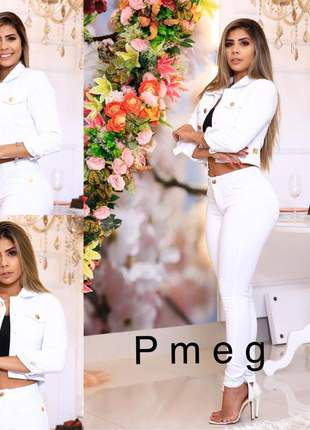 Calça jeans branca feminina