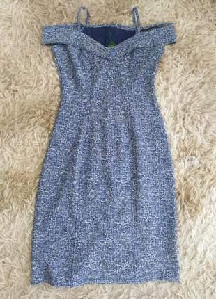 Vestido midi moda evangélica ombro a ombro moda inverno feminino