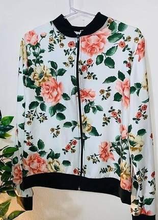 Jaqueta feminina casual estampada