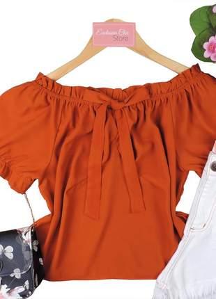 Blusa ciganinha feminina laço bs698
