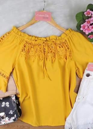 Blusa ciganinha feminina renda bs707
