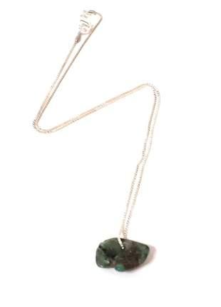 Colar pedra esmeralda natural