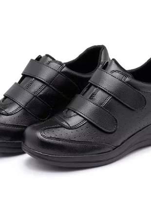 Tênis sapatênis ortopédico confort médico branco pés sensíveis ortopédico