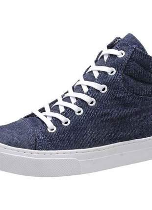 Tênis casual stefanello ibiza03 tecido jeans