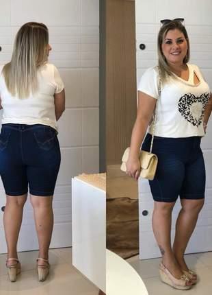 Bermuda jeans shorts tamanhos grandes plus size