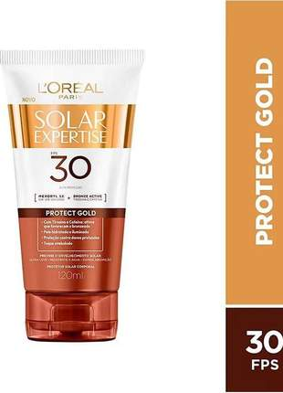Protetor bronzeador solar expertise portect gold fps 30 l'oreal paris - 120ml