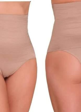 Calcinha seca barriga modela cintura alta p ao gg