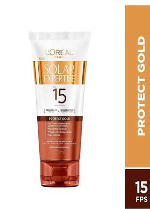 Protetor bronzeador solar expertise protect gold fps 15 l'oreal paris 120ml
