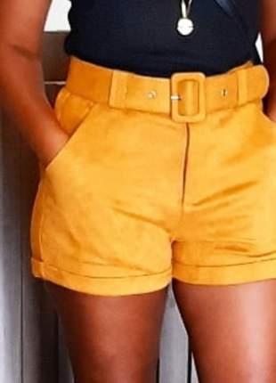 Shorts suede scuba