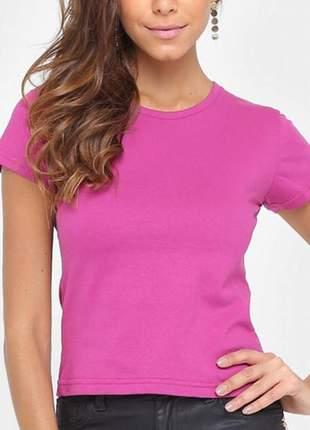 Camiseta tigs básica feminina - pink promoção moda feminina