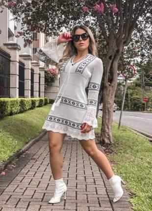 Vestido rendado de tricot - preço para revenda