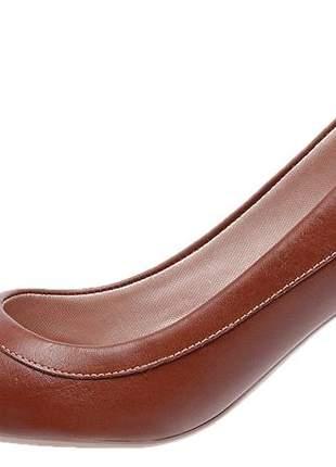Scarpin feminino em couro 3803 chocolate