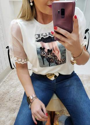 Tee shirt michela coleção diamante
