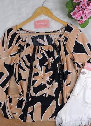 Blusa ciganinha feminina manga flare bs726