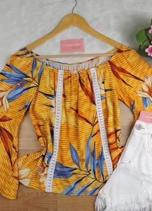 Blusa ciganinha feminina manga flare bs723