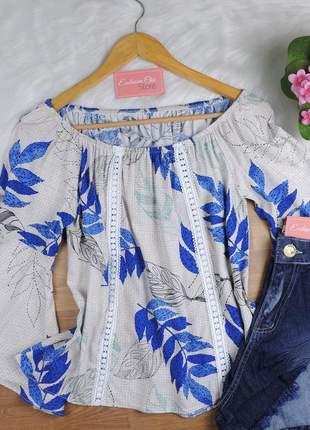 Blusa ciganinha feminina manga flare bs722