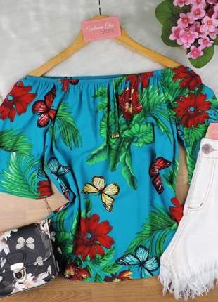 Blusa ciganinha feminina floral bs721