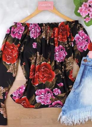 Blusa ciganinha feminina floral bs720