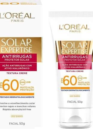 Protetor facial antirrugas solar expertise fps 60 l'oréal paris - 50g
