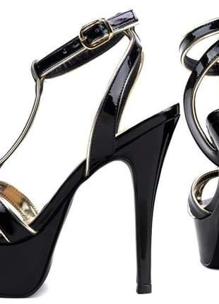 Sandalia feminina meia pata
