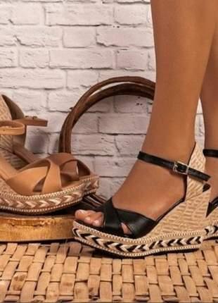 Sandálias femininas anabela lançamento
