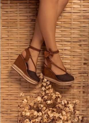 Sandálias anabela femininas lançamento