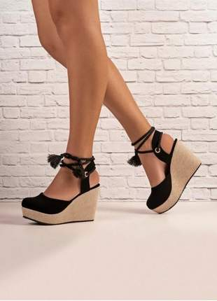 Sandálias anabela feminina