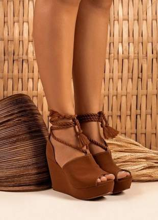 Sandálias anabela nevasca boot