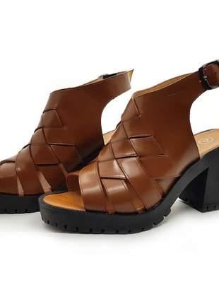 Sandália tratorada couro avalon darc cores