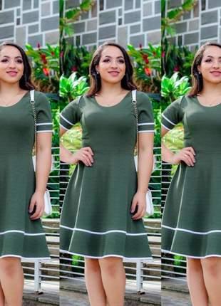 Vestido feminino evangélico midi godê rodado social luxo atacado promoção