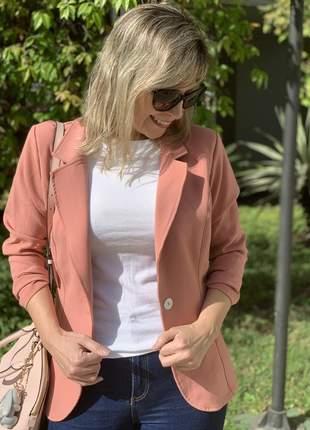 Blazer larissa alfaiataria rosa