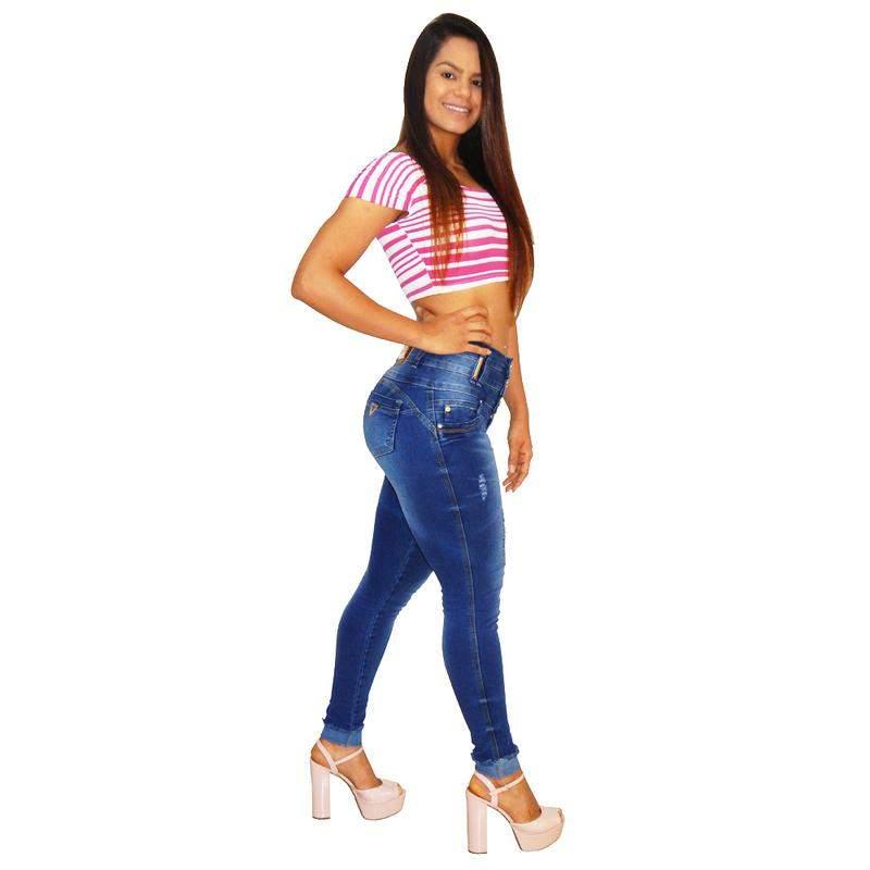 eecb08dee Calça jeans feminina via7 hot pants bojo removível 10327 - R$ 179.99 ...