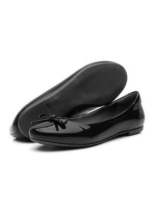 Sapatilha casual bico redondo confortável 200 preto