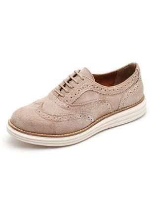 Sapato casual oxford confortável em camurça 300 areia