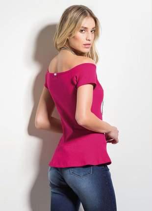 Blusa pink ombro á ombro