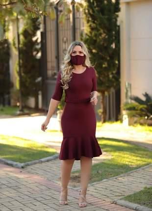 Vestido sereia, acompanha mascara