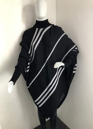 Poncho em tricot