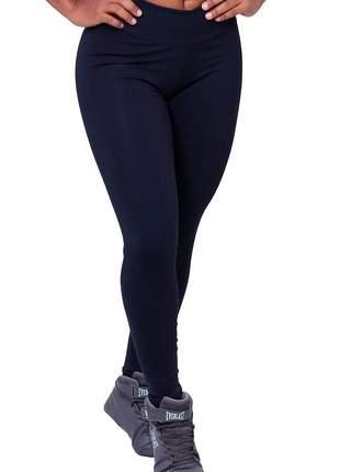 Calca legging cintura alta feminina fitness suplex poliamida preta