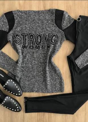 Blusa tricô strong