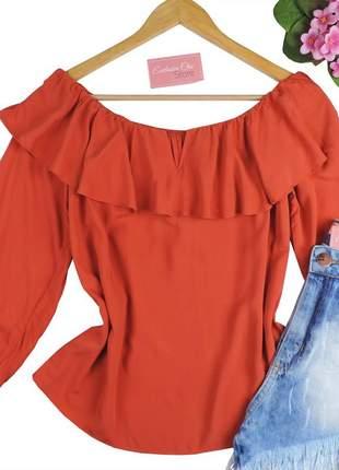 Blusa ciganinha feminina babado bs728