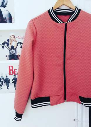 Jaqueta bomber rosa moda inverno conforto 2020 feminina