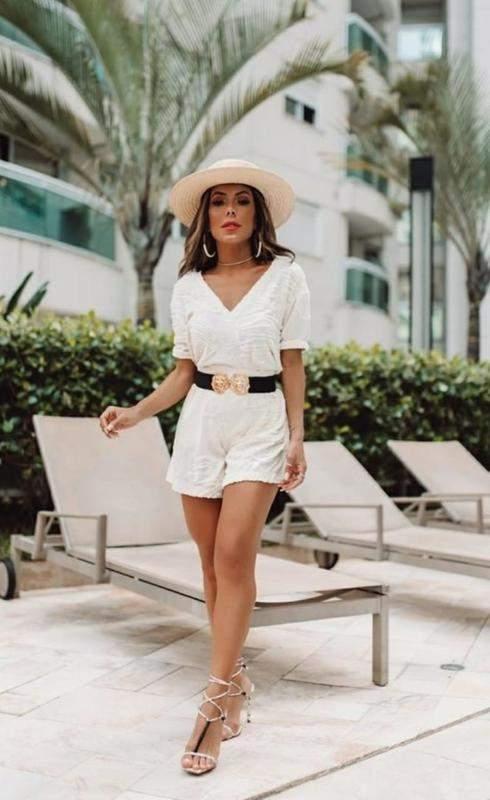 Cila Martini Store / Conjunto feminino flamê shorts e blusa