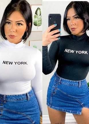 Body new york gola alta manga longa