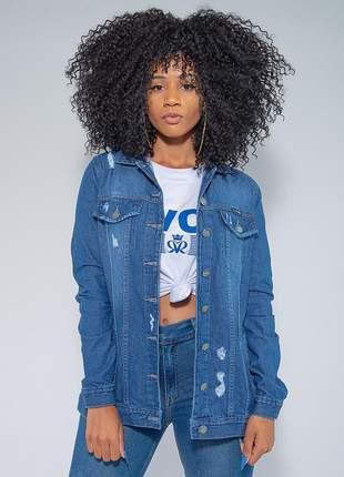 Jaqueta jeans tradicional max feminina revanche