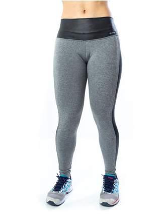 Calça legging fitness cinza mescla