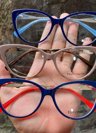 Óculos gatinho feminina tiffany