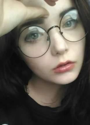 Rmação de metal redonda óculos hipster estilo john lennon