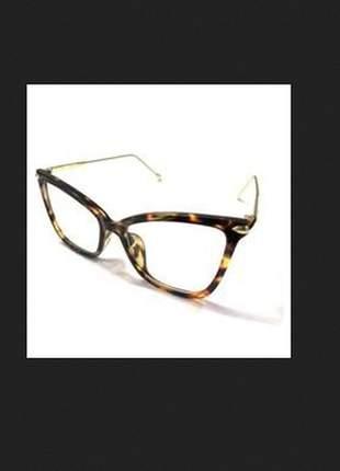 Oculos armação de grau gatinho tartaruga feminino grande