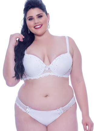 Conjunto lingerie plus size lua de mel